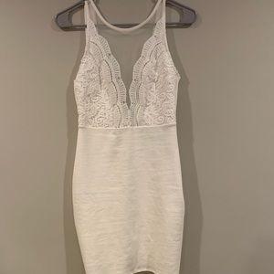 White LuLus cocktail dress